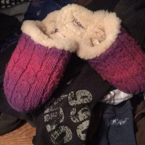 Pink/purple knit UGG slippers—HARD 2 FIND!!!